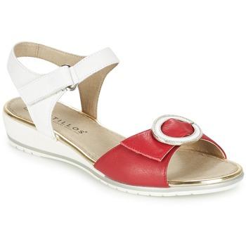 Buty Damskie Sandały Pitillos MERVA Biały / Czerwony
