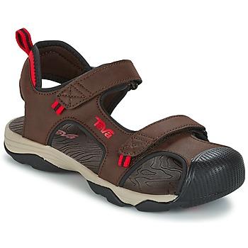 Buty Chłopiec Sandały sportowe Teva TOACHI 4 Brązowy / Czarny / Czerwony