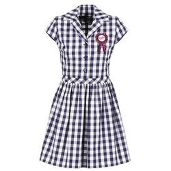 tekstylia Damskie Sukienki krótkie Love Moschino WVF3001 Niebieski / Biały