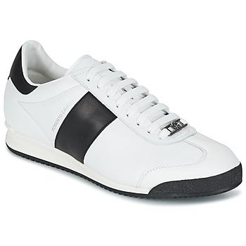 Buty Męskie Trampki niskie Roberto Cavalli 2042C Biały / Czarny