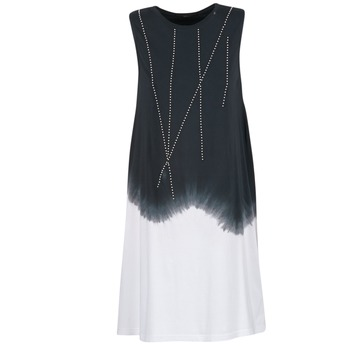 tekstylia Damskie Sukienki krótkie Replay WOOPINA Czarny / Biały