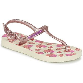 Buty Dziewczynka Japonki Havaianas KIDS FREEDOM PRINT Beżowy / Różowy