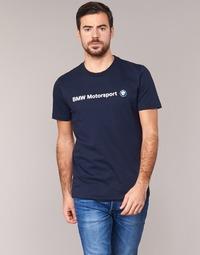 tekstylia Męskie T-shirty z krótkim rękawem Puma BMW MSP LOGO TEE Marine