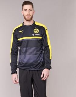 tekstylia Męskie Bluzy Puma BVB TRAINING SWEAT Czarny / Żółty