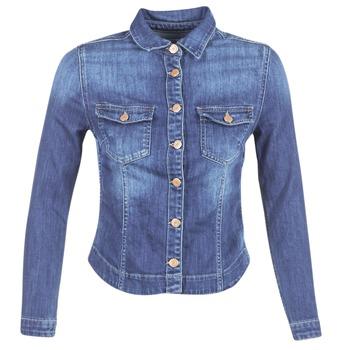 tekstylia Damskie Kurtki jeansowe Le Temps des Cerises LILLYM Niebieski / MEDIUM