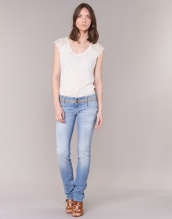 tekstylia Damskie Jeansy straight leg Le Temps des Cerises 220 Niebieski / CLAIR