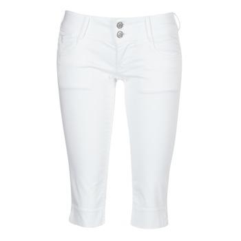 tekstylia Damskie Krótkie spodnie Le Temps des Cerises NINA Biały