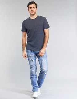 tekstylia Męskie Jeansy slim fit Le Temps des Cerises 711 JOGG Niebieski / CLAIR