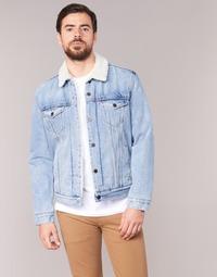 tekstylia Męskie Kurtki jeansowe Levi's TYPE 3 SHERPA TRUCKER
