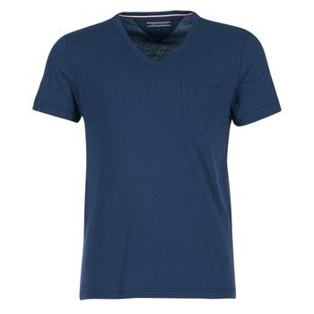 tekstylia Męskie T-shirty z krótkim rękawem Tommy Hilfiger HTR END ON END Marine