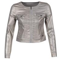 tekstylia Damskie Kurtki jeansowe Les P'tites Bombes OMILATE Srebrny