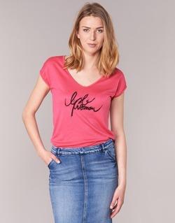 tekstylia Damskie T-shirty z krótkim rękawem Les P'tites Bombes CHOUBERNE Różowy