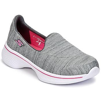 Buty Dziewczynka Tenisówki Skechers GO WALK 4 Szary
