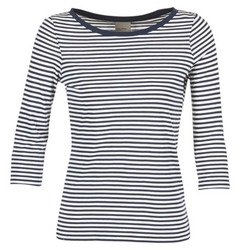 tekstylia Damskie T-shirty z długim rękawem Vero Moda MARLEY MARINE / Biały