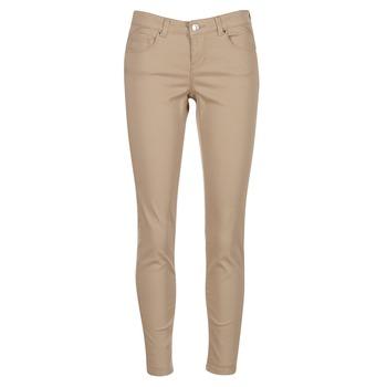 tekstylia Damskie Spodnie z pięcioma kieszeniami Vero Moda BUENO Beżowy