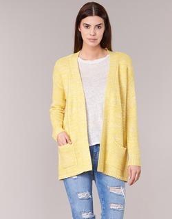 tekstylia Damskie Swetry rozpinane / Kardigany Vero Moda GERDA żółty