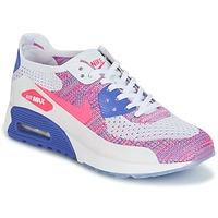 Buty Damskie Trampki niskie Nike AIR MAX 90 FLYKNIT ULTRA 2.0 W Biały / Niebieski / Różowy