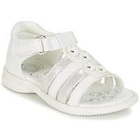 Buty Dziewczynka Sandały Chicco CAROTA Biały / Srebrny