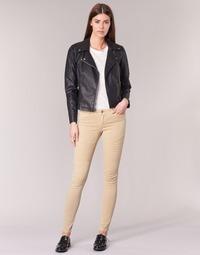 tekstylia Damskie Spodnie z pięcioma kieszeniami Noisy May EVE Beżowy