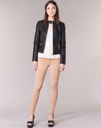 tekstylia Damskie Spodnie z pięcioma kieszeniami Noisy May EVE Różowy
