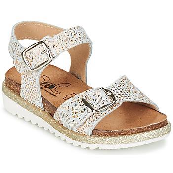 Buty Dziewczynka Sandały Citrouille et Compagnie GAUFRETTE Złoty / Biały