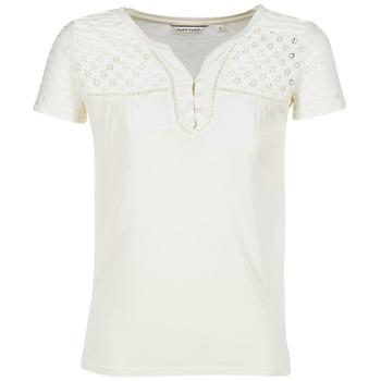 tekstylia Damskie T-shirty z krótkim rękawem Naf Naf OPARI Ecru
