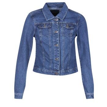 tekstylia Damskie Kurtki jeansowe Only DARCY Niebieski / MEDIUM