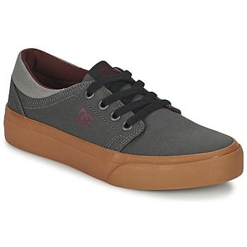 Buty Dziecko Trampki niskie DC Shoes TRASE TX B SHOE XSSR Szary / Czerwony