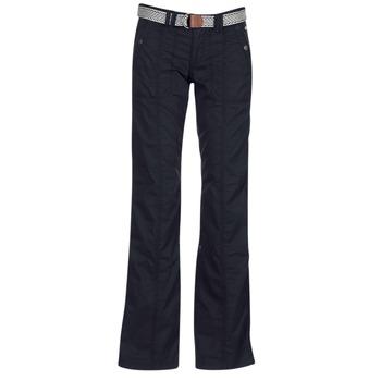 tekstylia Damskie Spodnie z pięcioma kieszeniami Esprit TURN UP Czarny