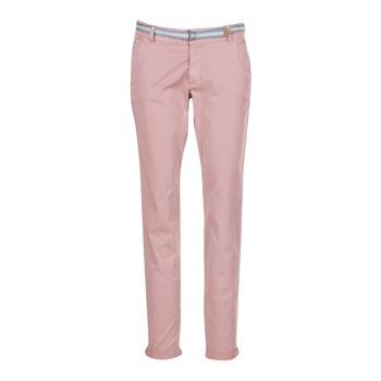 tekstylia Damskie Spodnie z pięcioma kieszeniami Esprit HOUISSA Różowy