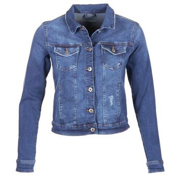 tekstylia Damskie Kurtki jeansowe Esprit CROVETTA Niebieski / MEDIUM