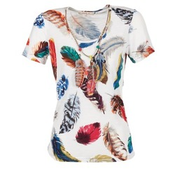 tekstylia Damskie T-shirty z krótkim rękawem Derhy JACQUOT Biały / Wielokolorowe