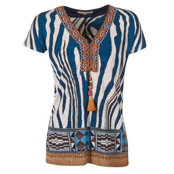 tekstylia Damskie T-shirty z krótkim rękawem Derhy JAQUERIE Niebieski