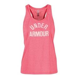 tekstylia Damskie Topy na ramiączkach / T-shirty bez rękawów Under Armour THREADBORNET TWIST GRAPHIC Różowy