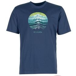 tekstylia Męskie T-shirty z krótkim rękawem Columbia CSC MOUNTAIN SUNSET Niebieski