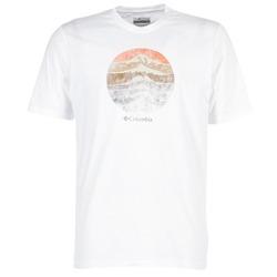 tekstylia Męskie T-shirty z krótkim rękawem Columbia CSC MOUNTAIN SUNSET Biały