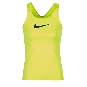 tekstylia Damskie Topy na ramiączkach / T-shirty bez rękawów Nike NIKE PRO COOL TANK Żółty