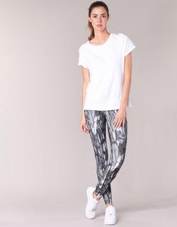 tekstylia Damskie Legginsy Nike PWR LGND TGHT PRNT Szary / Czarny