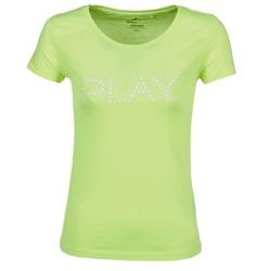 tekstylia Damskie T-shirty z krótkim rękawem Only Play BASIC żółty