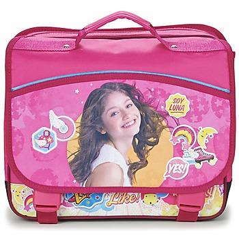 Torby Dziewczynka Teczki Disney SOY LUNA CARTABLE 38CM Różowy