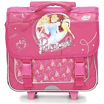 Torby Dziewczynka Plecaki / Tornistry na kółkach Disney PRINCESSES CARTABLE TROLLEY 38CM Różowy