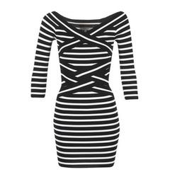 tekstylia Damskie Sukienki krótkie Morgan RBEST Czarny / ECRU
