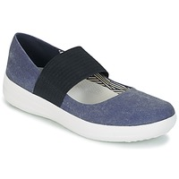 Buty Damskie Baleriny FitFlop FSPORTY MARY JANE CANVAS Midnight / Navy
