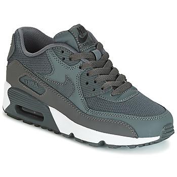 Buty Chłopiec Trampki niskie Nike AIR MAX 90 MESH GRADE SCHOOL Szary