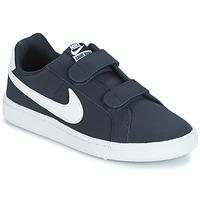 Buty Chłopiec Trampki niskie Nike COURT ROYALE PRESCHOOL Niebieski / Biały