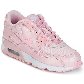 Buty Dziewczynka Trampki niskie Nike AIR MAX 90 MESH SE PRESCHOOL Różowy