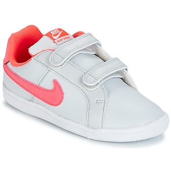 Buty Dziewczynka Trampki niskie Nike COURT ROYALE TODDLER Szary / Różowy