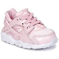 Buty Dziewczynka Trampki niskie Nike HUARACHE RUN SE TODDLER Różowy