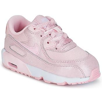 Buty Dziewczynka Trampki niskie Nike AIR MAX 90 MESH SE TODDLER Różowy
