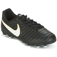 Buty Dziecko Piłka nożna Nike TIEMPO RIO IV FG JUNIOR Czarny / Biały